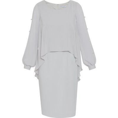 Anushka Chiffon Cape Dress