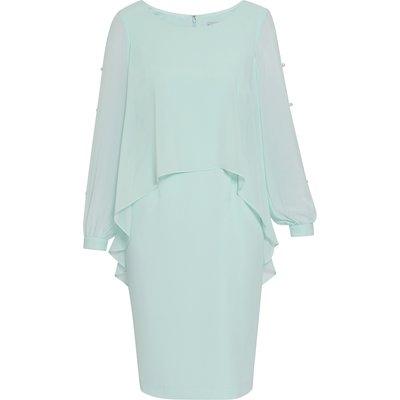 Anushka Chiffon Cape Dress