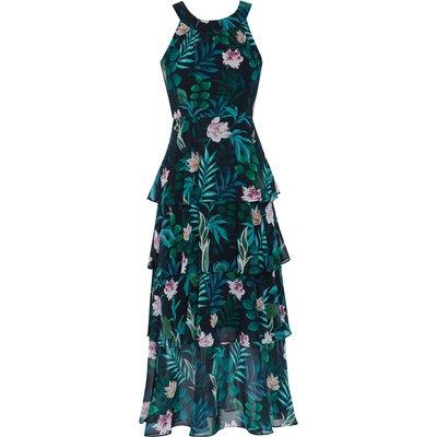 Diadama Chiffon Tiered Maxi Dress