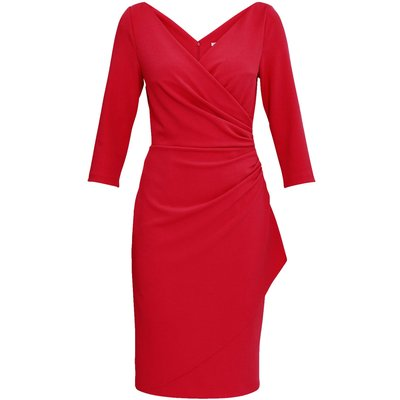 Keelia Crepe Wrap Dress