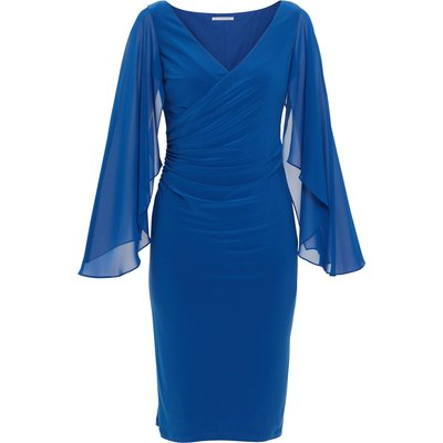 Idina Jersey And Chiffon Dress
