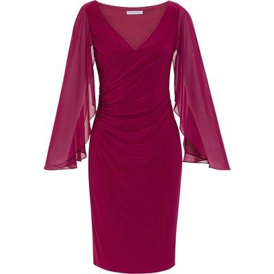 Idina Jersey And Chiffon Dress