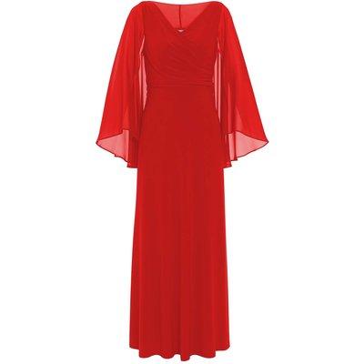 Piera Jersey Maxi Dress With Cape