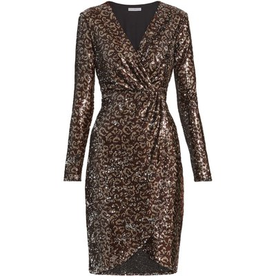 Clarice Sequin Wrap Dress
