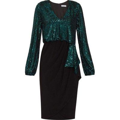 Anara Sequin And Jersey Dress