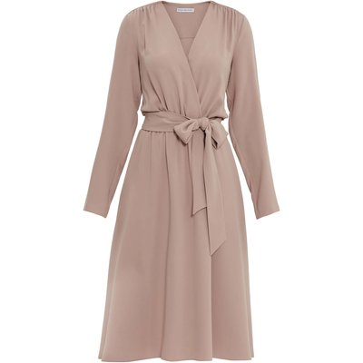 Junie Crepe Wrap Dress