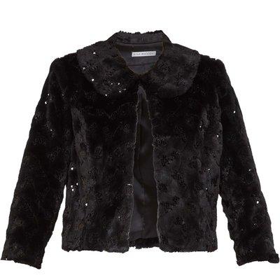 Ketina Faux Fur Sequin Jacket