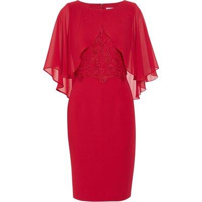 Lienna Dress With Chiffon Cape