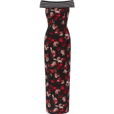 Paivi Floral Scuba Maxi Dress