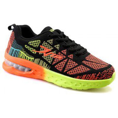 Trendy Color Block and Geometric Design Men's Athletic Shoes
