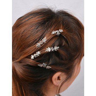 5PCS Floral Hair Accessory Set, Silver