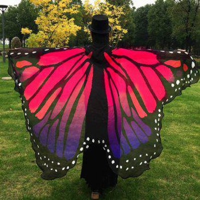 Butterfly Wing Cape Pashmina, Red