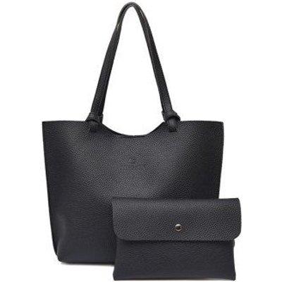 Pebble PU Leather Crossbody Bag and Shoulder Bag, Black