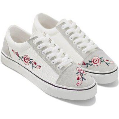 Embroidery Flower Canvas Shoes
