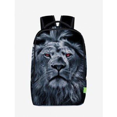 3D Lion Print Backpack, Deep Blue