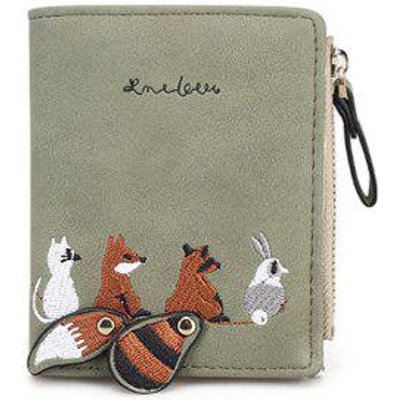 Animal Pattern Embroidery Wallet