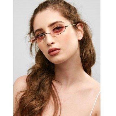 Anti Fatigue Metal Full Frame Oval Sunglasses