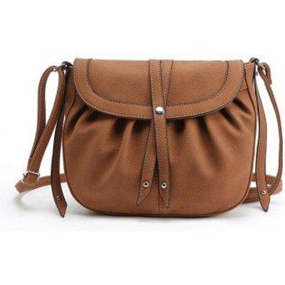 Ruffle Rivets Crosbody Saddle Bags
