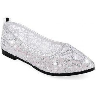MS-802Lace Net Surface Hollowed Out Comfortable Breathable and Antiskid Shallow Mouth Women Shoes