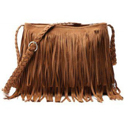 Faux Suede Fringe Tassel Shoulder Bag Women's fashion Handbag Crossbody Bag Messenger Bags Four Colo