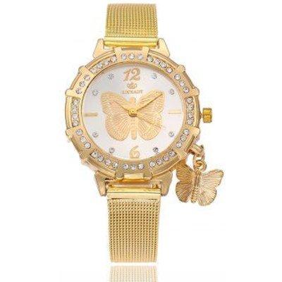 2018 New Fashion Female Clocks Women Luxury Quartz Watch  gold Stainless Steel dress Watches, Golden