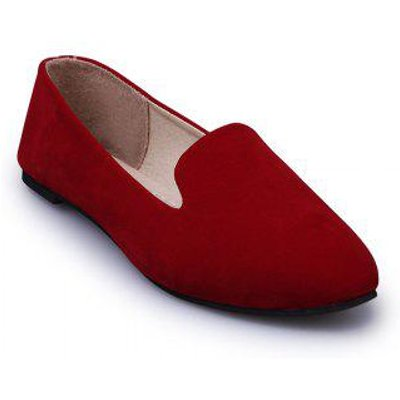 The New Flat Mouth Four All-Match Pointed Suede Shoes