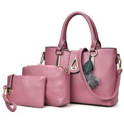 Simple Ladies Hair Ball Pendant Portable Shoulder Messenger Bag