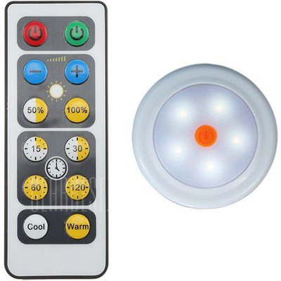 Wireless LED Puck Light Cabinet Lamp with Remote Control