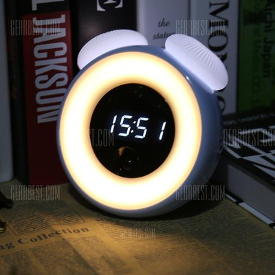 Intelligent Sensor LED Night Light with Digital Alarm Clock