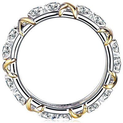 Gold-plated Women Ring with Artificial Zircon