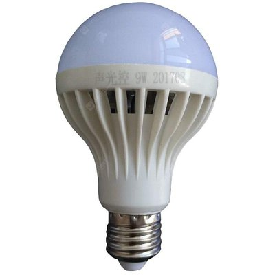 9W E27 White LED Smart Bulbs Sensor Lamp 486 lm Voice Control Sound-Activated Decorative Light Contr