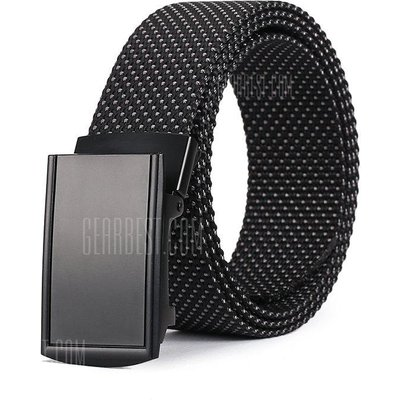 Fashion Quick Dry Adjustable Casual Nylon Snowflake Point Waist Belt Alloy Buckle