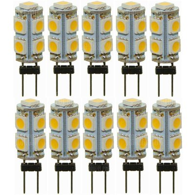 Sencart G4 Warm White 3000K 5050 9-LED Light Replacement Halogen Bulbs (10 PCS / DC12V)