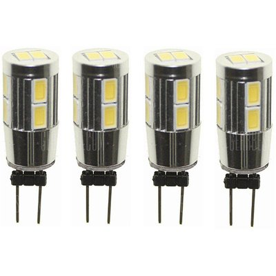 Sencart 4pcs G4 10SMD 5630 White / Warm White Back Pin 6000K / 3000K Home Spot Light LED Cabinet Bul