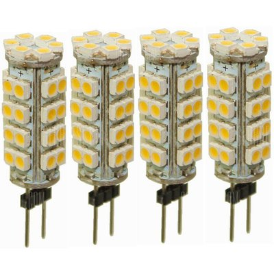 Sencart 4pcs G4 SMD 3528 38 LED Warm White DC 12V 3W  Marine Boat Camper Light Bulb Lamp