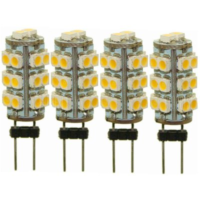 Sencart 4pcs G4 SMD 3528 26-LED Warm White DC 12V 2W Marine Boat Camper Light Bulb Lamp