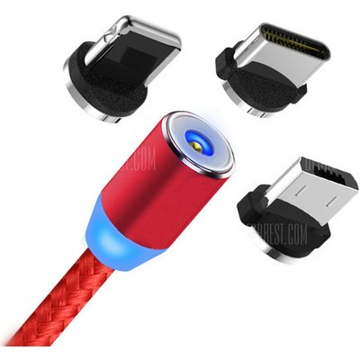 360 Degree 3 in 1 Magnetic Nylon Braided Wire Charger