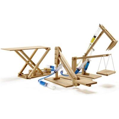 Pathfinders 4 in 1 Multipack Hydraulic Mini Machines Educational Wooden Kits - 27433