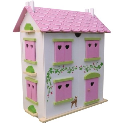 Candy Cottage Wooden Dolls House and Furniture - DCH007