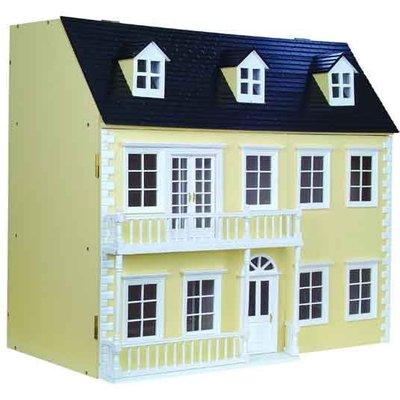 Glenside Grange Ready to Assemble Dolls House - Painted Cream Glenside Grange - DH027P