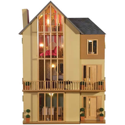 Lake View Dolls House Kit from Dolls House Emporium Unpainted - Unpainted Lake View Kit (Basement Not Included) - 3009