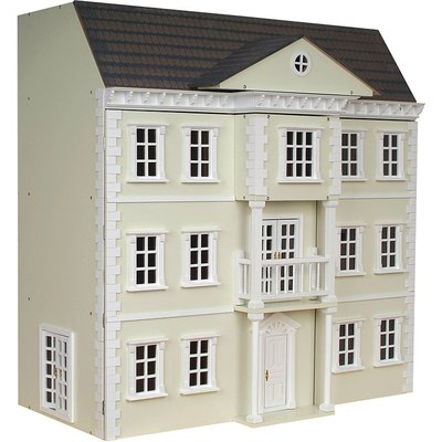 The Mayfair Ready to Assemble Dolls House - Mayfair Dolls House Painted In Cream - DH032P