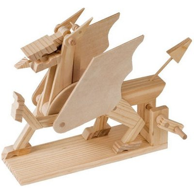 Timberkits Welsh Dragon Griffin Educational Timber Wood Automation Kit - Dragon - TK/27