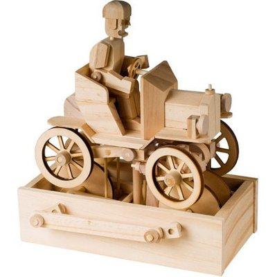 Timberkits Vintage Car Educational Timber Wood Automation Kit - TK/39