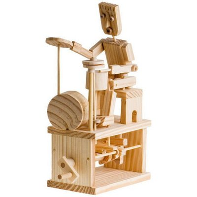 Timberkits Drummer Educational Timber Wood Automation Kit - Drummer - TK/19