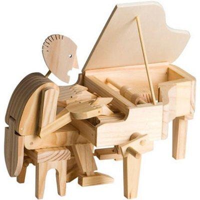 Timberkits Pianist Educational Timber Wood Automation Kit - TK/26