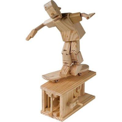 Timberkits Skateboarder Educational Timber Wood Automation Kit - TK/36