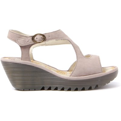 Women's Yanca Cupido Leather Sandals - Concrete