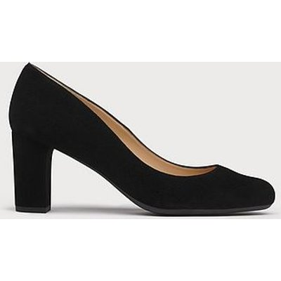 Sersha Black Block Heel Courts