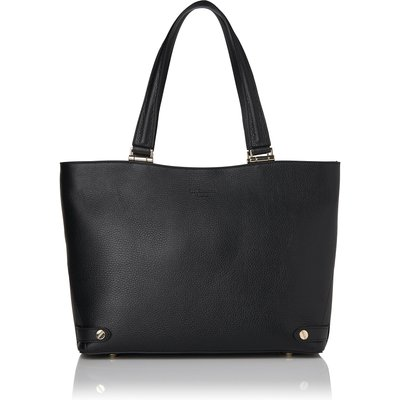 Roberta Black Grained Leather Tote